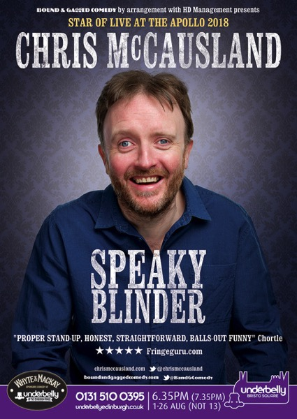 Chris McCausland, Edinburgh Fringe 2018 Poster
